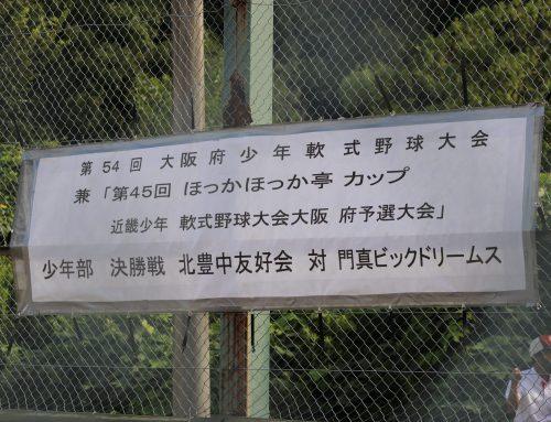 近畿少年軟式野球大会大阪府予選会 決勝